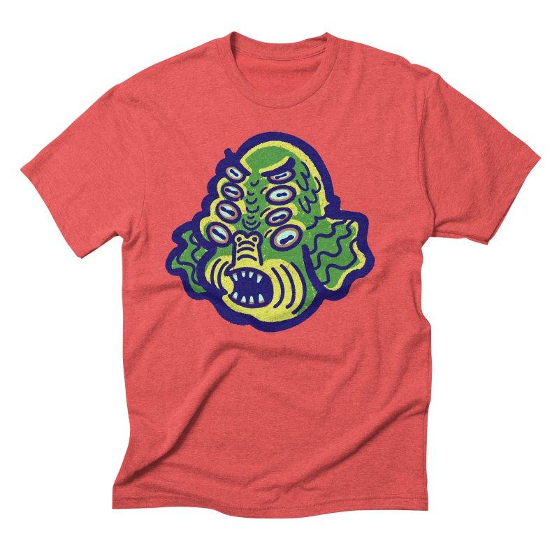 8-eyed Sea Monster Men's T-Shirt by Illustrator and Designer Alan Defibaugh