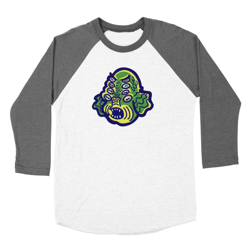 8-eyed Sea Monster Women's Longsleeve T-Shirt by Illustrator and Designer Alan Defibaugh