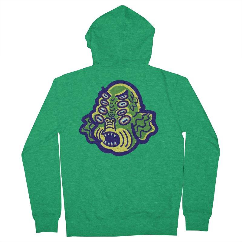8-eyed Sea Monster Men's Zip-Up Hoody by Illustrator and Designer Alan Defibaugh