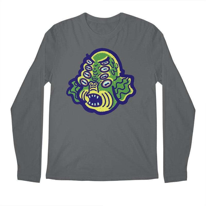 8-eyed Sea Monster Men's Longsleeve T-Shirt by Illustrator and Designer Alan Defibaugh