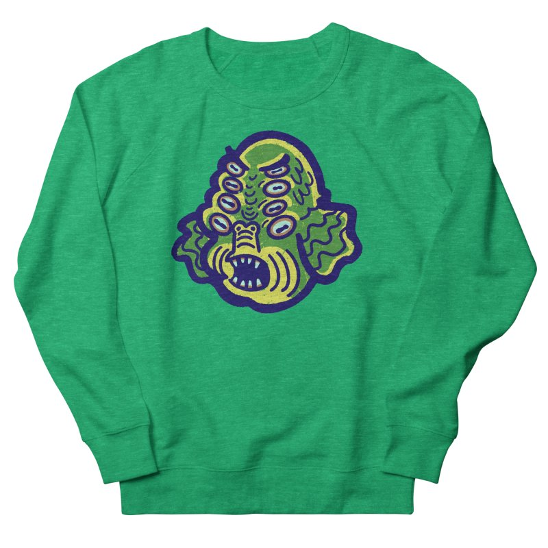 8-eyed Sea Monster Women's Sweatshirt by Illustrator and Designer Alan Defibaugh