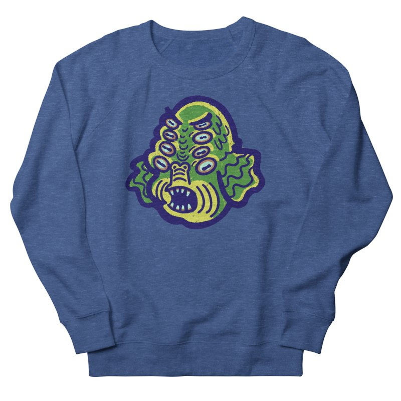 8-eyed Sea Monster Men's Sweatshirt by Illustrator and Designer Alan Defibaugh