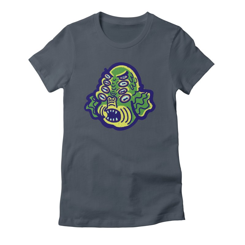 8-eyed Sea Monster Women's T-Shirt by Illustrator and Designer Alan Defibaugh