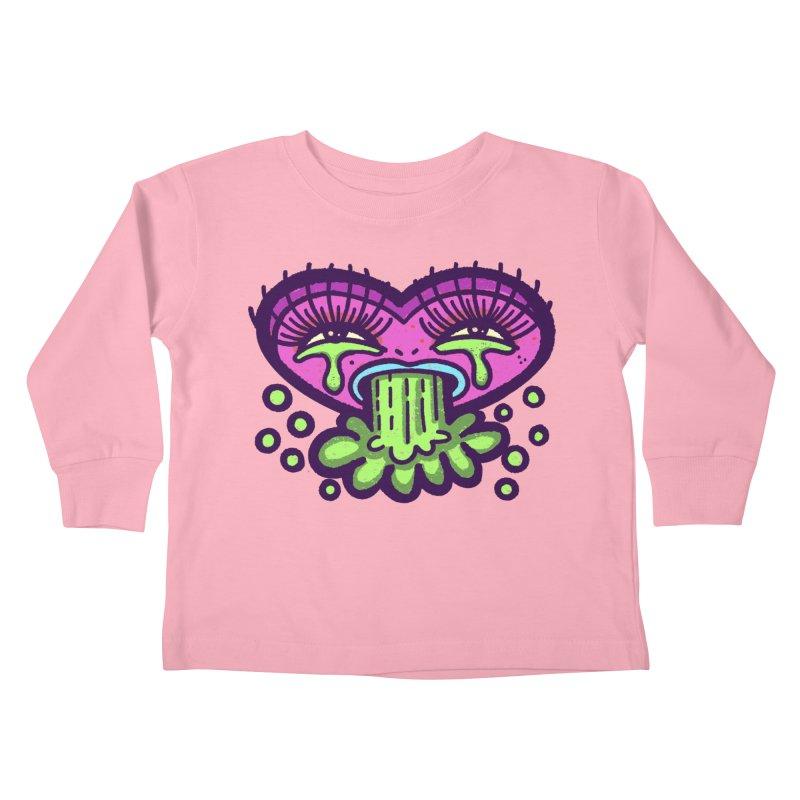 LuvSick Kids Toddler Longsleeve T-Shirt by Illustrator and Designer Alan Defibaugh