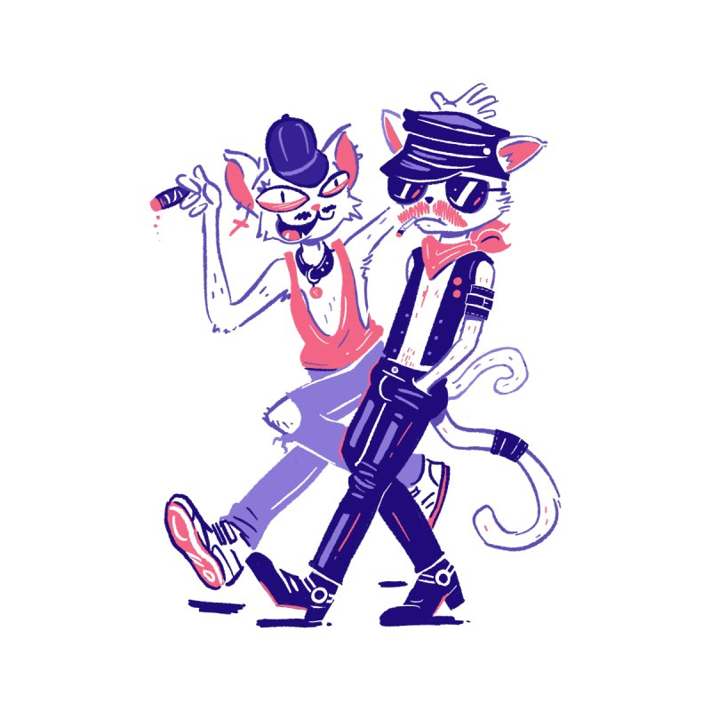 Sleazy Cats by Illustrator and Designer Alan Defibaugh's Shop