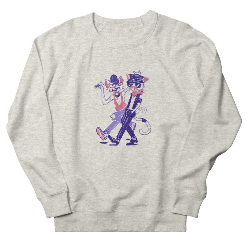 Sleazy Cats Women's Sweatshirt by Illustrator and Designer Alan Defibaugh's Shop