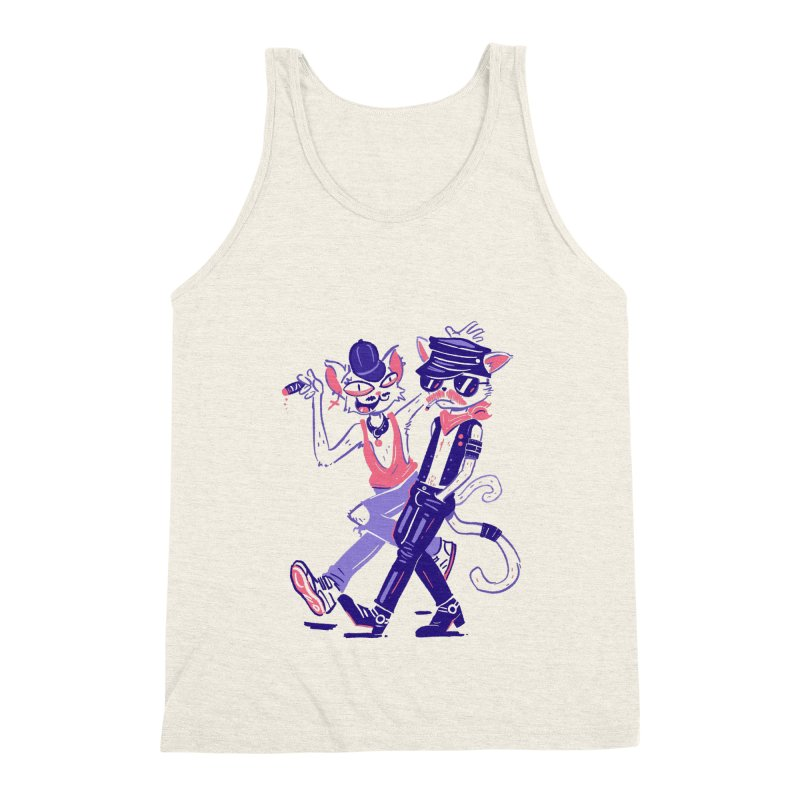 Sleazy Cats Men's Tank by Illustrator and Designer Alan Defibaugh's Shop