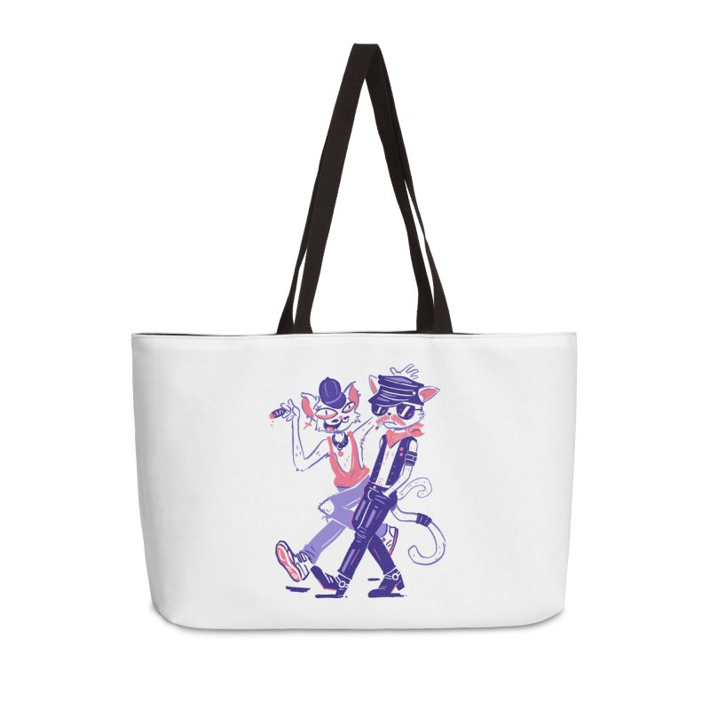 Sleazy Cats Accessories Weekender Bag Bag by Illustrator and Designer Alan Defibaugh's Shop