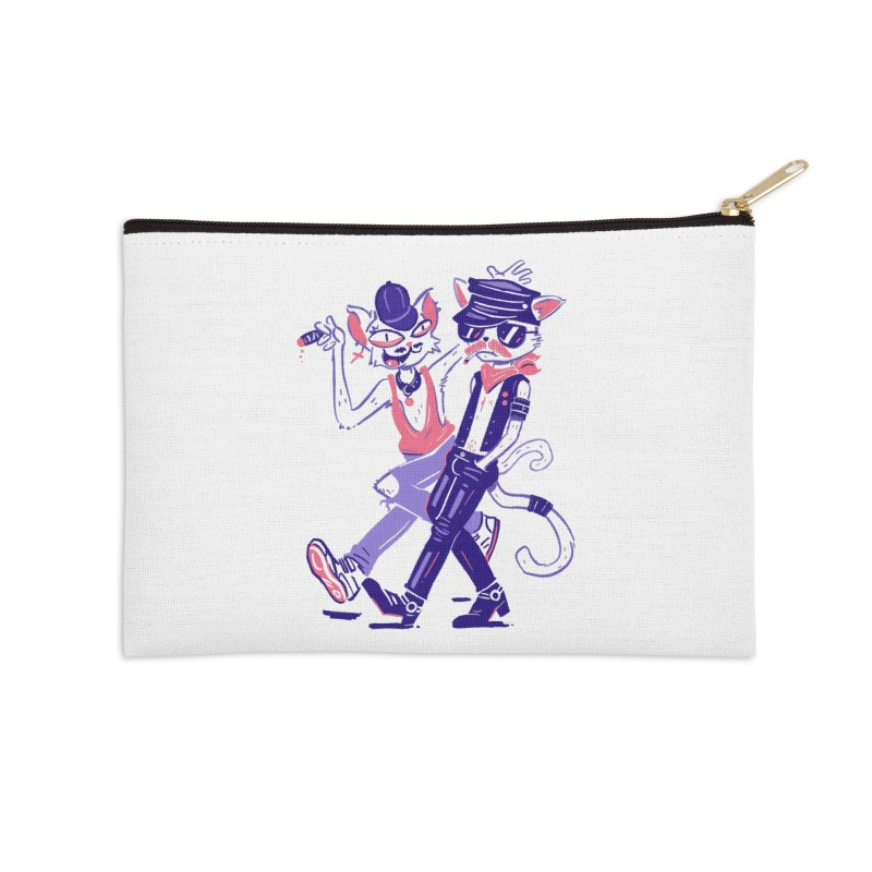 Sleazy Cats Accessories Zip Pouch by Illustrator and Designer Alan Defibaugh's Shop
