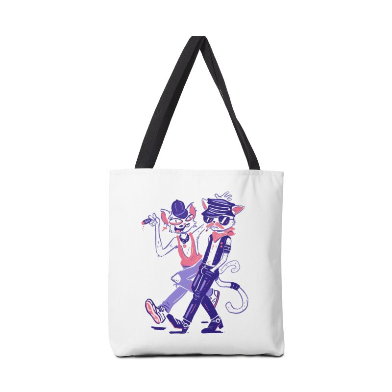 Sleazy Cats Accessories Tote Bag Bag by Illustrator and Designer Alan Defibaugh's Shop