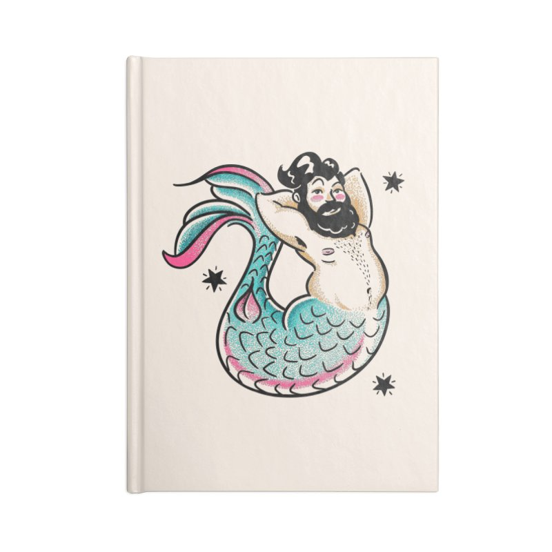 Swimmin' with the Big Boys Accessories Lined Journal Notebook by Illustrator and Designer Alan Defibaugh's Shop