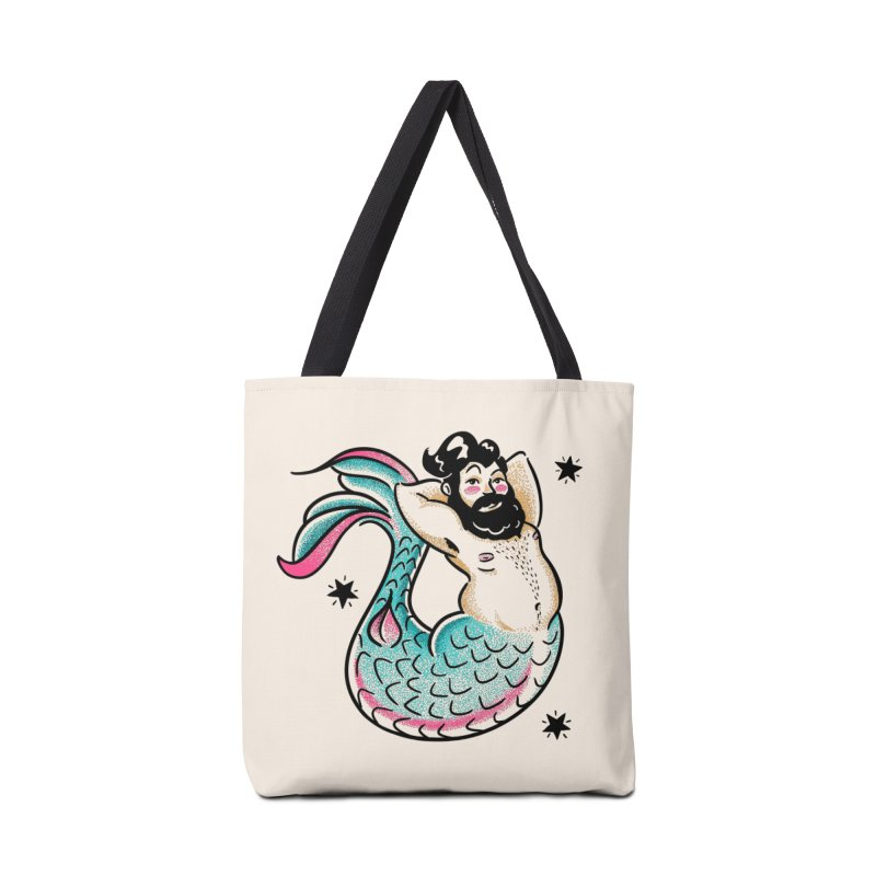Swimmin' with the Big Boys Accessories Bag by Illustrator and Designer Alan Defibaugh's Shop