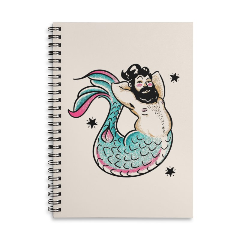 Swimmin' with the Big Boys Accessories Lined Spiral Notebook by Illustrator and Designer Alan Defibaugh's Shop
