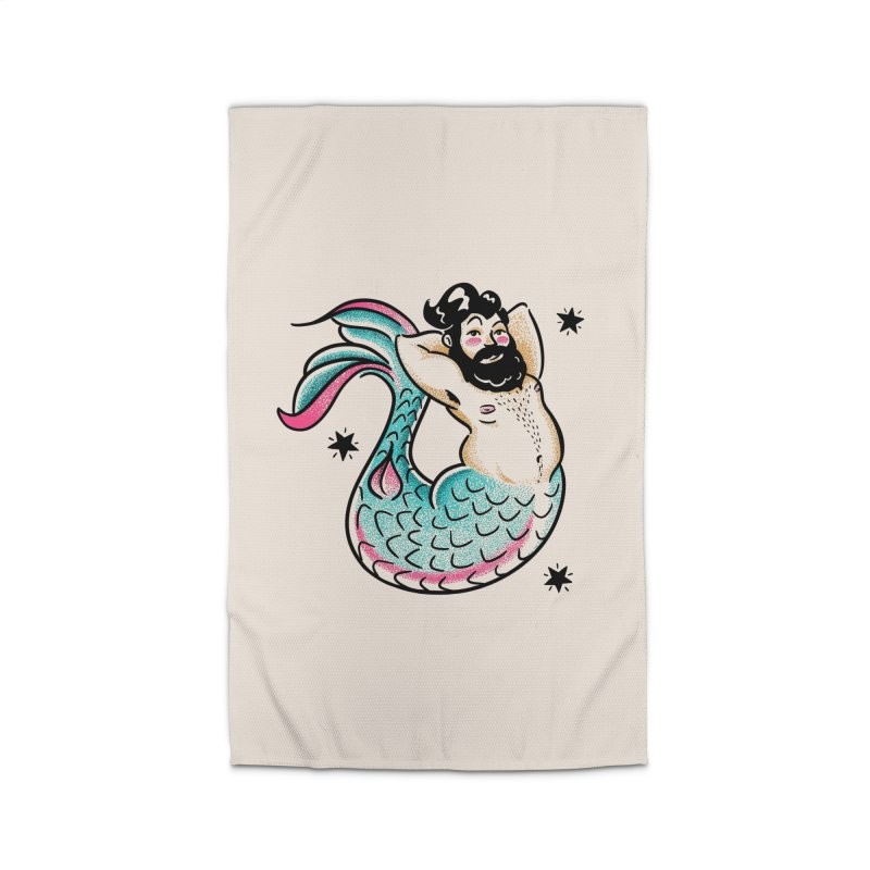 Swimmin' with the Big Boys Home Rug by Illustrator and Designer Alan Defibaugh's Shop