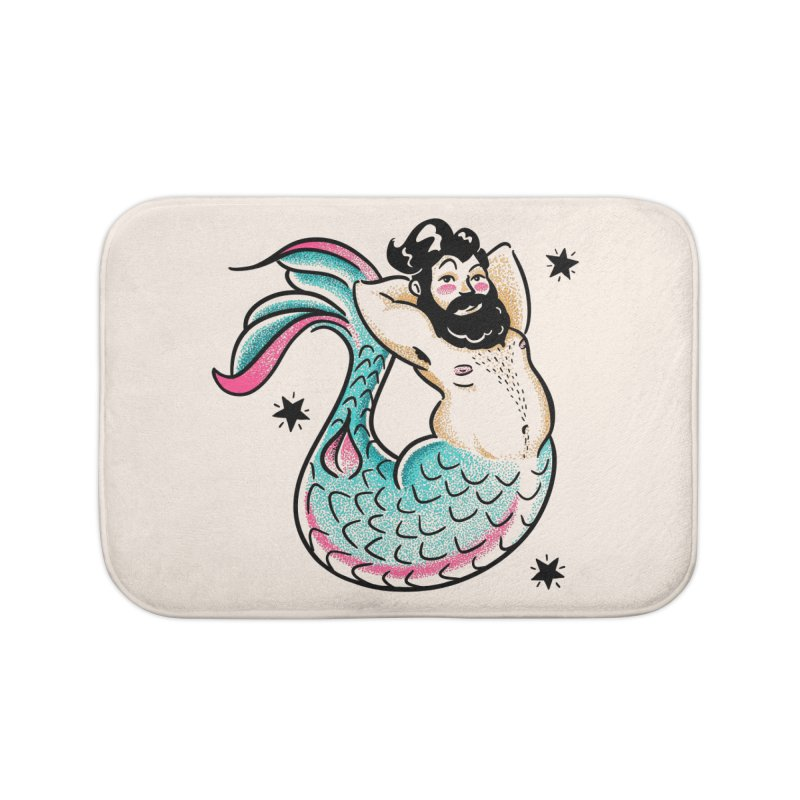 Swimmin' with the Big Boys Home Bath Mat by Illustrator and Designer Alan Defibaugh's Shop