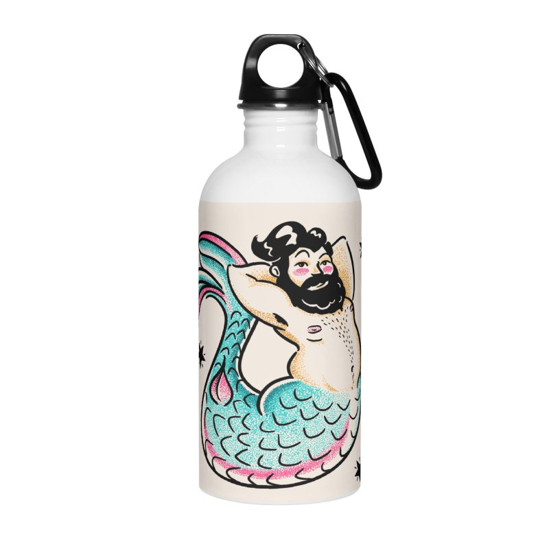 Swimmin' with the Big Boys Accessories Water Bottle by Illustrator and Designer Alan Defibaugh's Shop