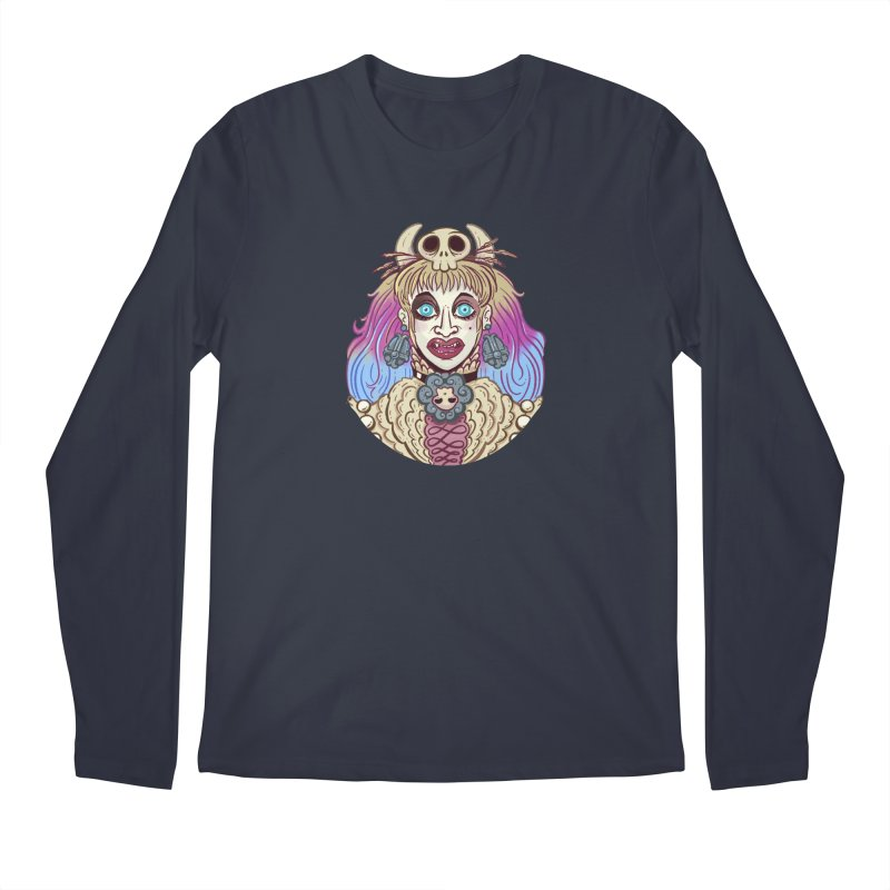 Vampire Fantasy Men's Regular Longsleeve T-Shirt by Illustrator and Designer Alan Defibaugh's Shop