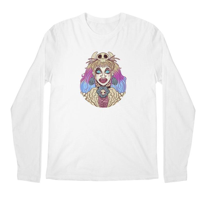 Vampire Fantasy Men's Regular Longsleeve T-Shirt by Illustrator and Designer Alan Defibaugh's Shop