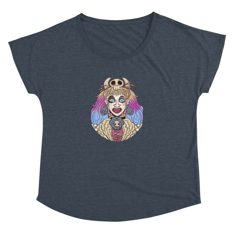 Vampire Fantasy Women's Dolman Scoop Neck by Illustrator and Designer Alan Defibaugh's Shop
