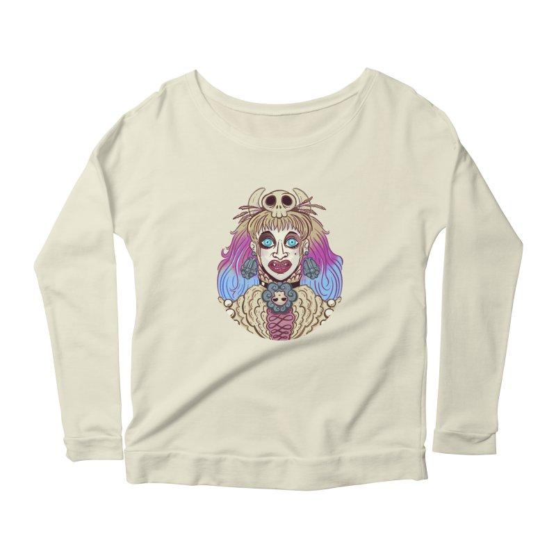 Vampire Fantasy Women's Scoop Neck Longsleeve T-Shirt by Illustrator and Designer Alan Defibaugh's Shop