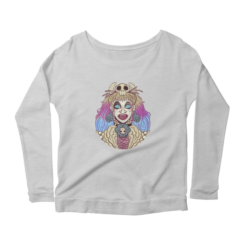 Vampire Fantasy Women's Scoop Neck Longsleeve T-Shirt by Illustrator and Designer Alan Defibaugh's Shop