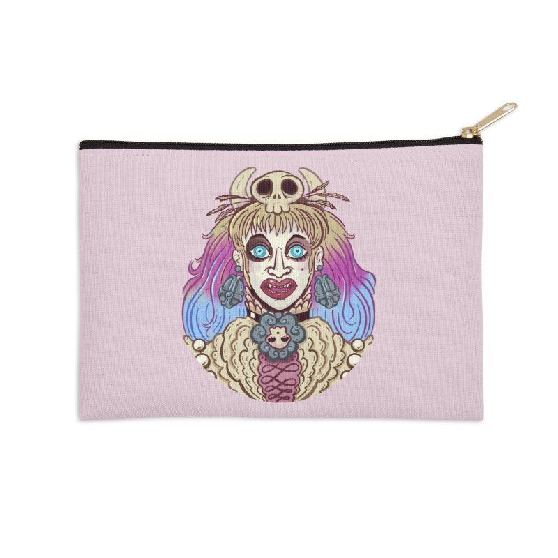 Vampire Fantasy Accessories Zip Pouch by Illustrator and Designer Alan Defibaugh's Shop
