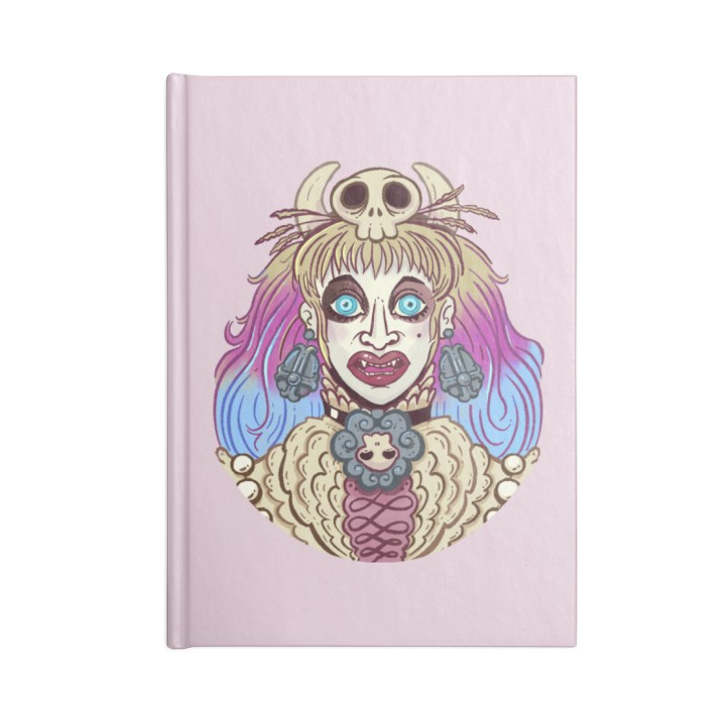 Vampire Fantasy Accessories Lined Journal Notebook by Illustrator and Designer Alan Defibaugh's Shop