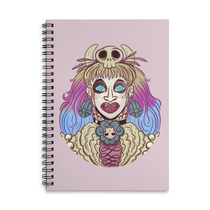 Vampire Fantasy Accessories Lined Spiral Notebook by Illustrator and Designer Alan Defibaugh's Shop