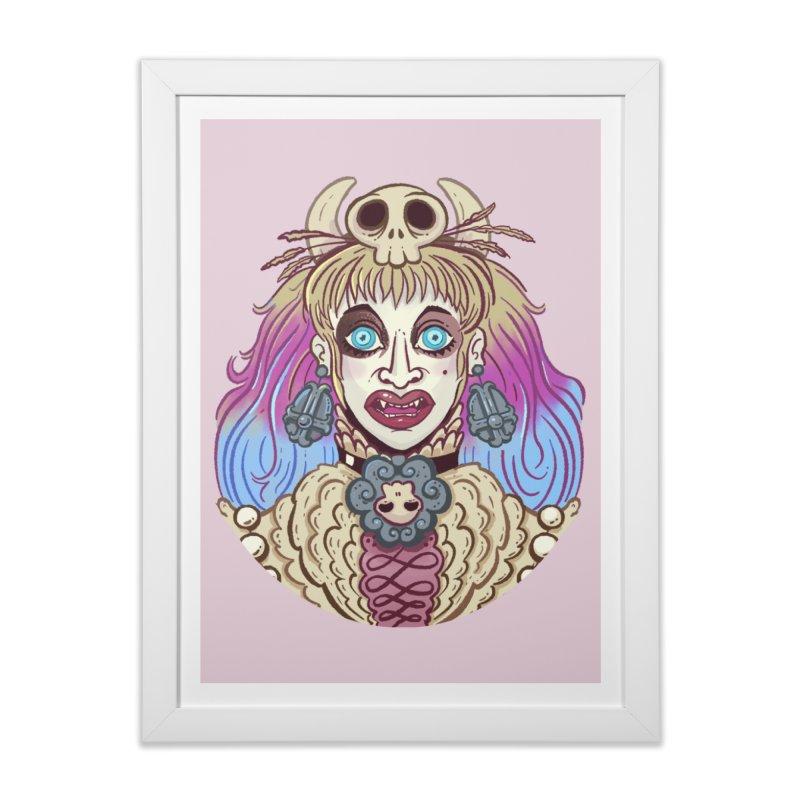 Vampire Ombre Home Framed Fine Art Print by Illustrator and Designer Alan Defibaugh's Shop