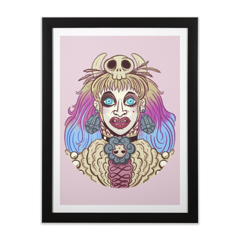 Vampire Fantasy Home Framed Fine Art Print by Illustrator and Designer Alan Defibaugh's Shop