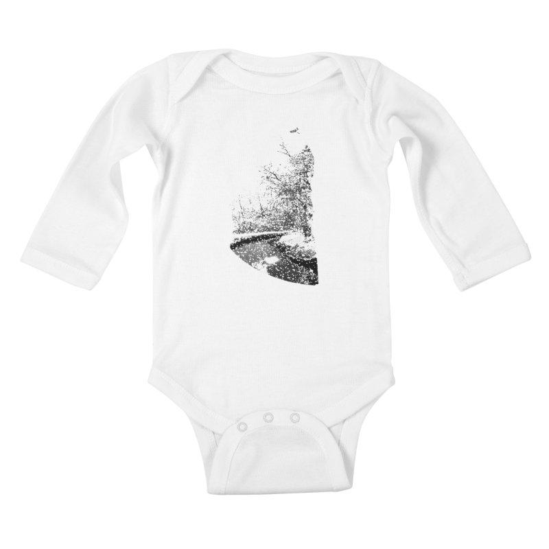 Marano Ticino Snow Kids Baby Longsleeve Bodysuit by AlessMila's Artist Shop