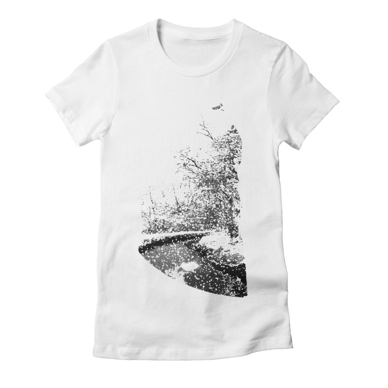 Marano Ticino Snow Women's Fitted T-Shirt by AlessMila's Artist Shop