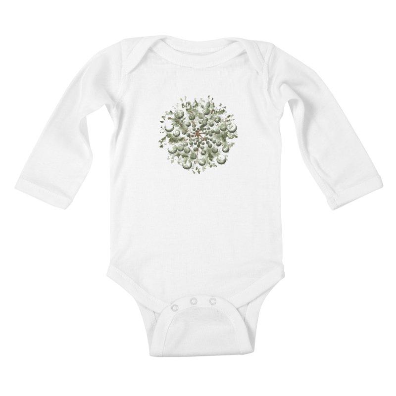 Bursting plant Kids Baby Longsleeve Bodysuit by AlessMila's Artist Shop
