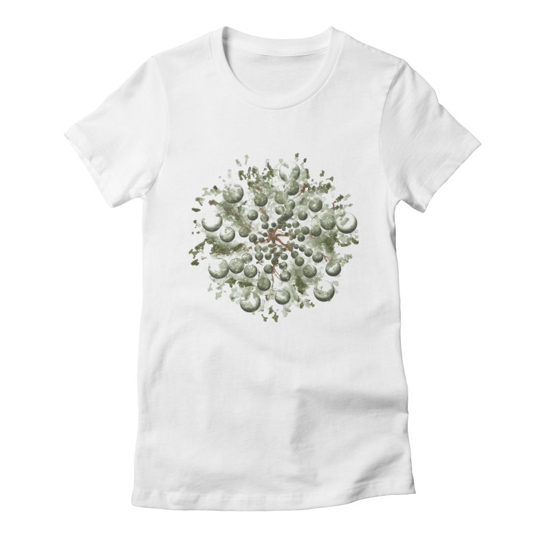 Bursting plant Women's Fitted T-Shirt by AlessMila's Artist Shop