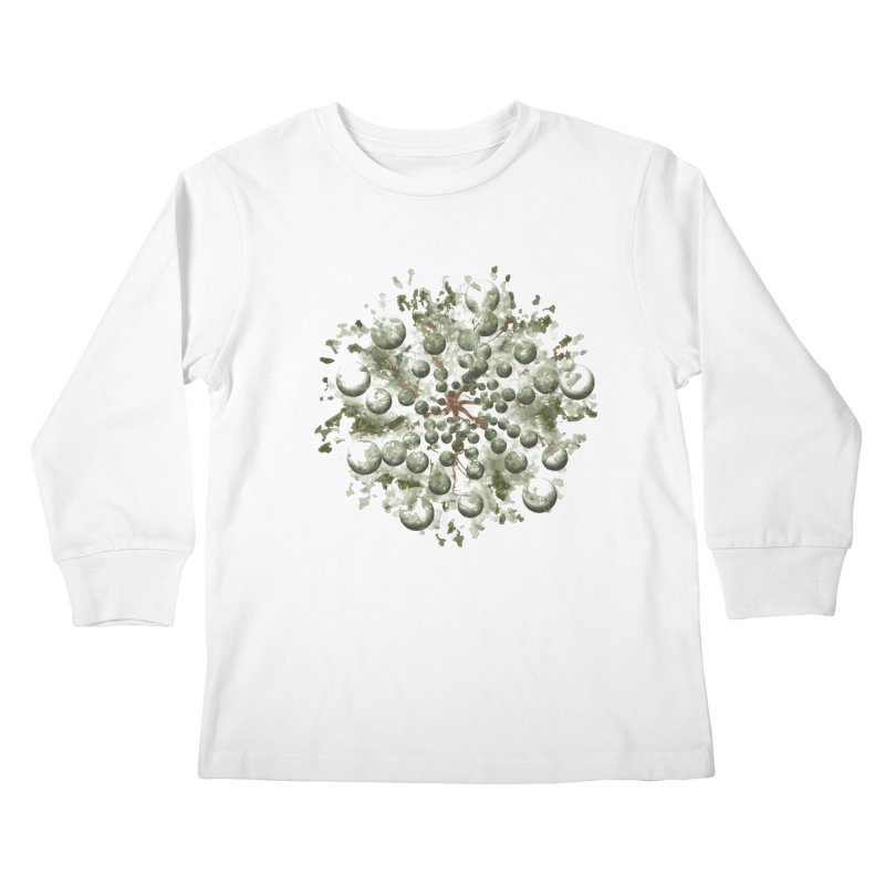 Bursting plant Kids Longsleeve T-Shirt by AlessMila's Artist Shop