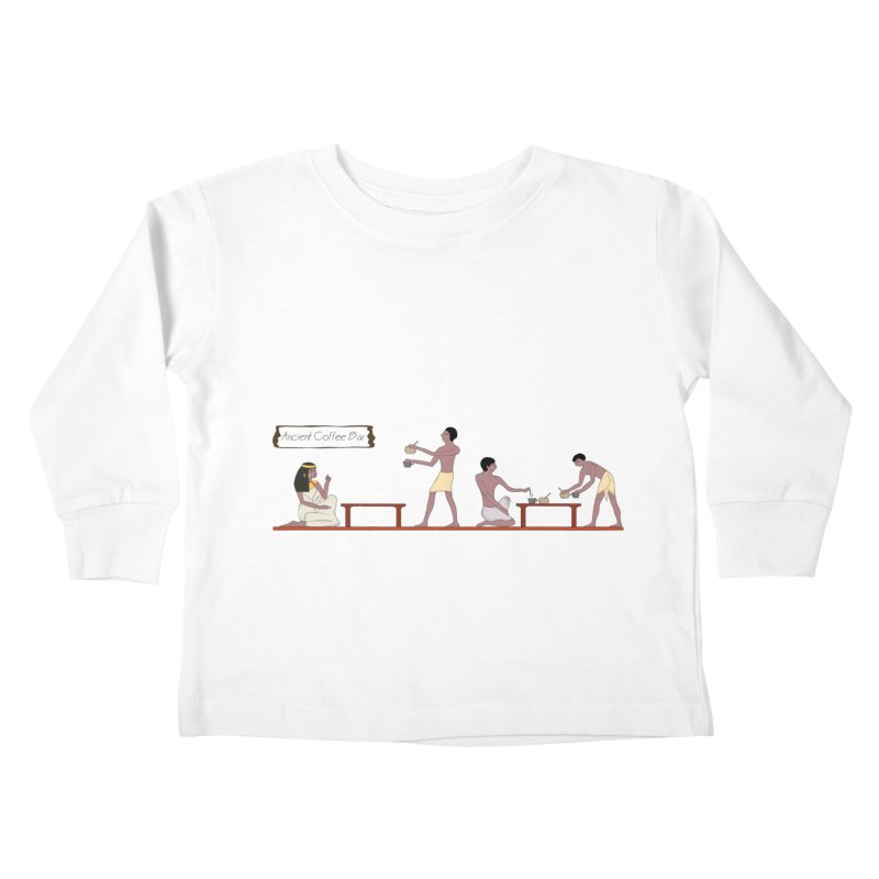 Ancient Coffee Bar Kids Toddler Longsleeve T-Shirt by AlessMila's Artist Shop