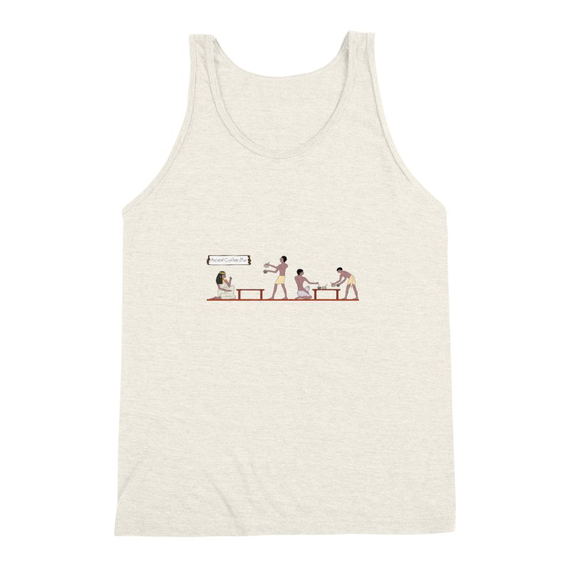 Ancient Coffee Bar Men's Triblend Tank by AlessMila's Artist Shop