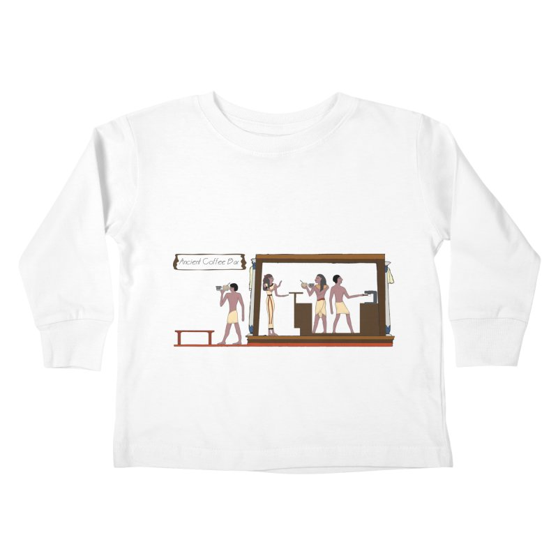 Ancient coffee Kids Toddler Longsleeve T-Shirt by AlessMila's Artist Shop