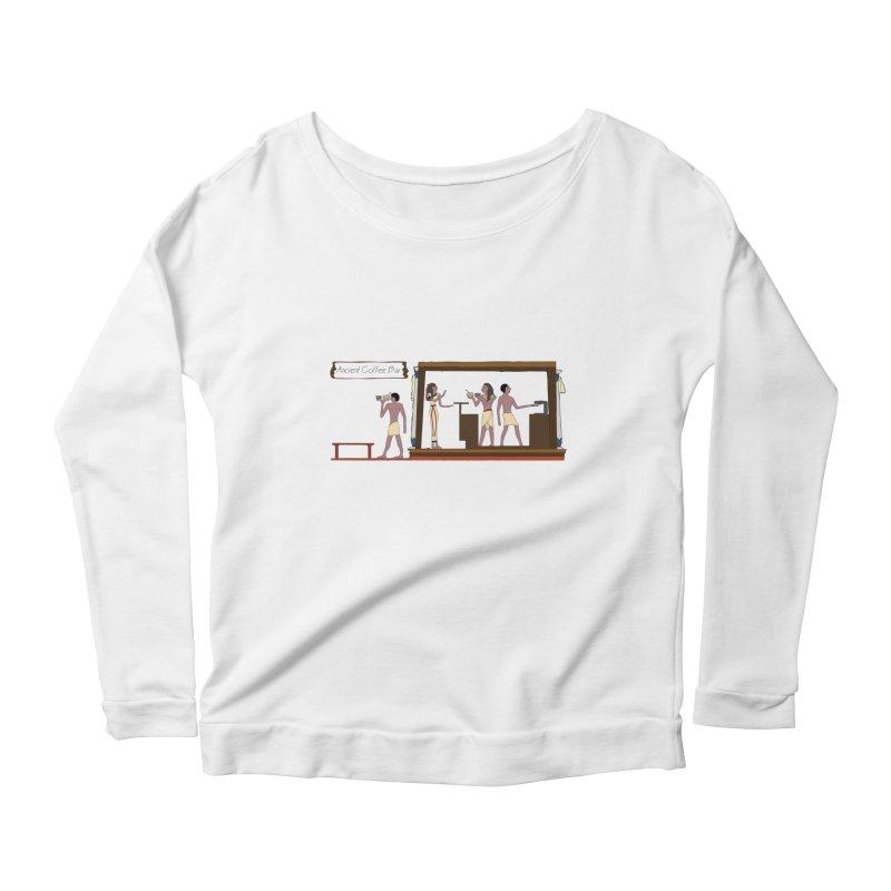 Ancient coffee Women's Scoop Neck Longsleeve T-Shirt by AlessMila's Artist Shop