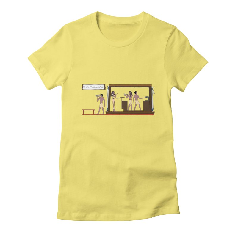 Ancient coffee Women's Fitted T-Shirt by AlessMila's Artist Shop
