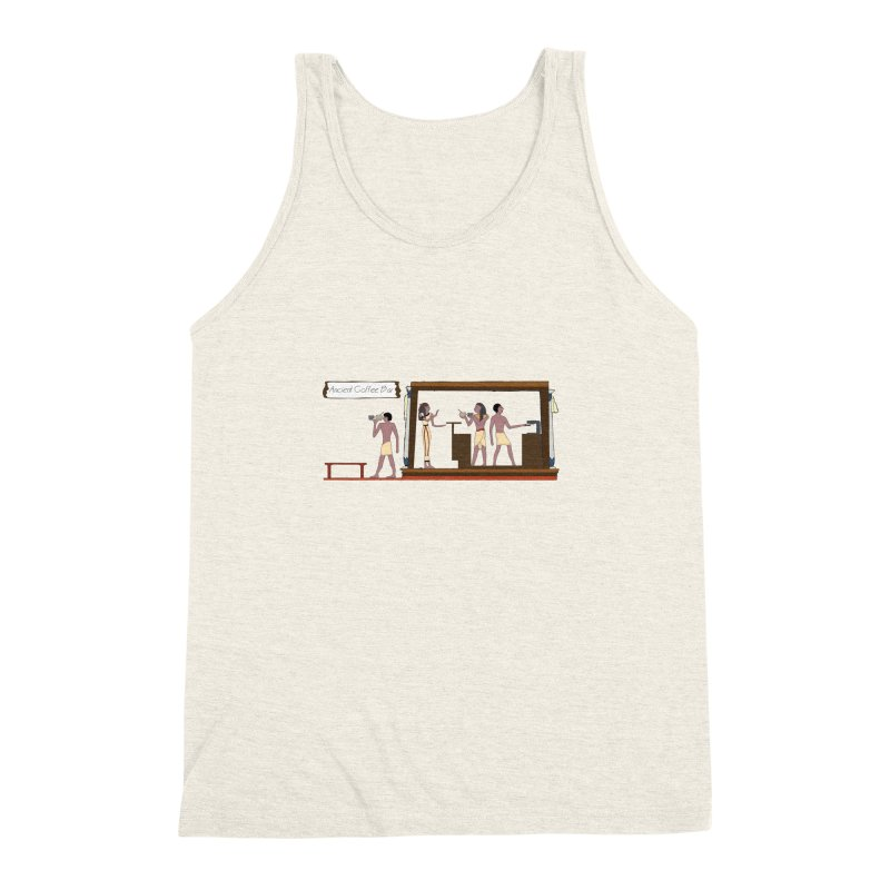 Ancient coffee Men's Triblend Tank by AlessMila's Artist Shop