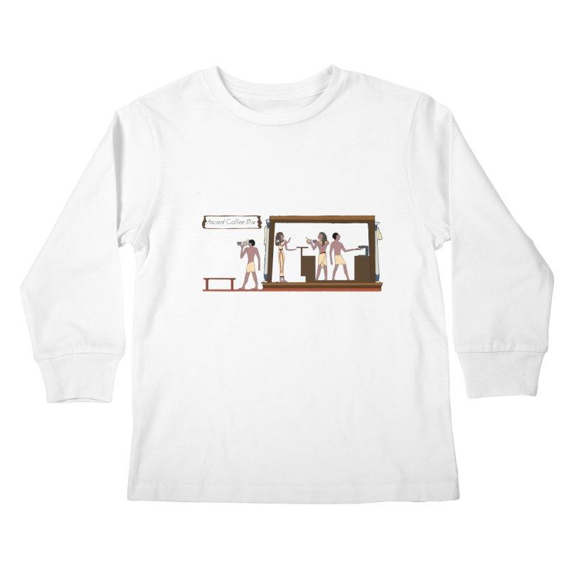 Ancient coffee Kids Longsleeve T-Shirt by AlessMila's Artist Shop
