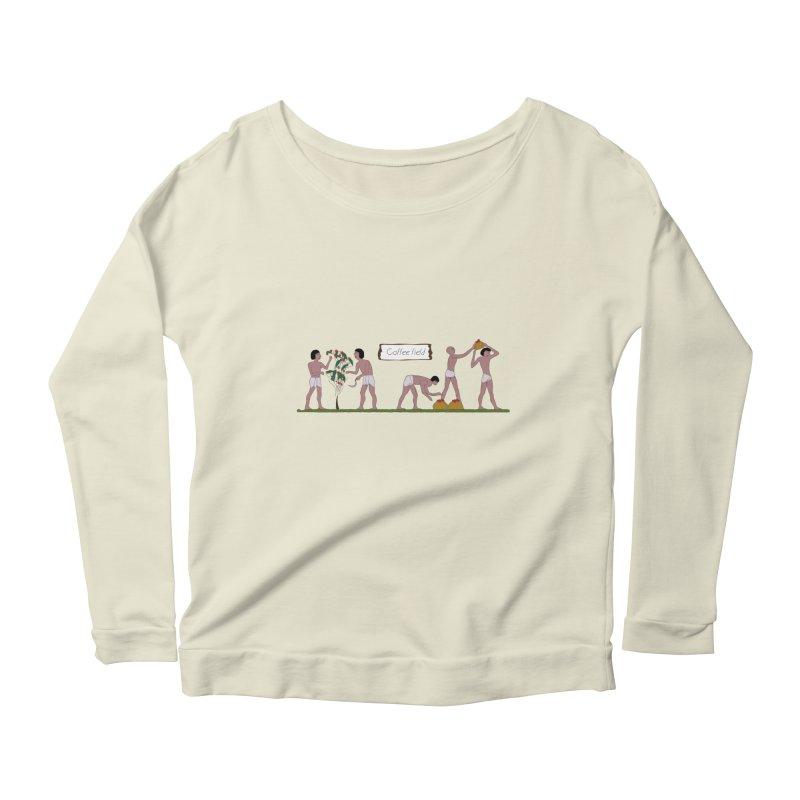Ancient coffee plant Women's Scoop Neck Longsleeve T-Shirt by AlessMila's Artist Shop
