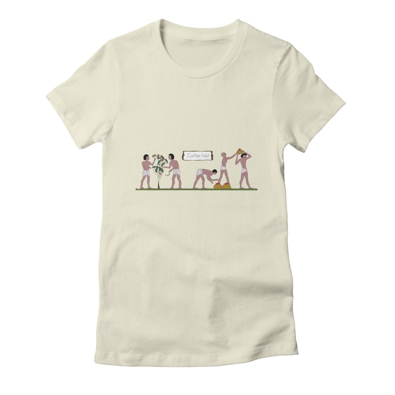 Ancient coffee plant Women's Fitted T-Shirt by AlessMila's Artist Shop