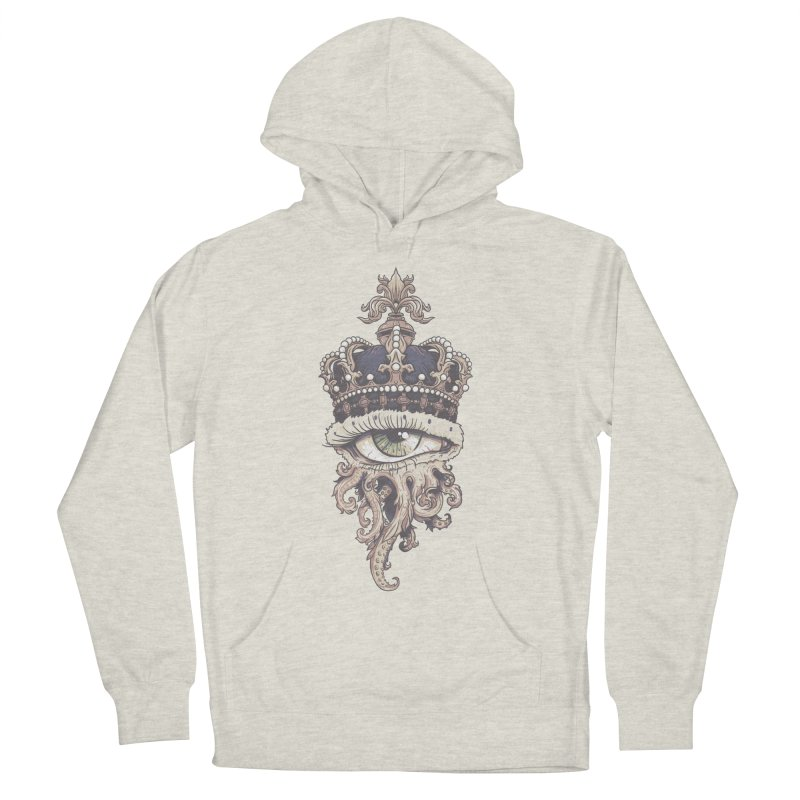who runs the world? Men's French Terry Pullover Hoody by Alexhovey's Artist Shop