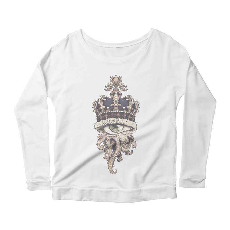 who runs the world? Women's Scoop Neck Longsleeve T-Shirt by Alexhovey's Artist Shop