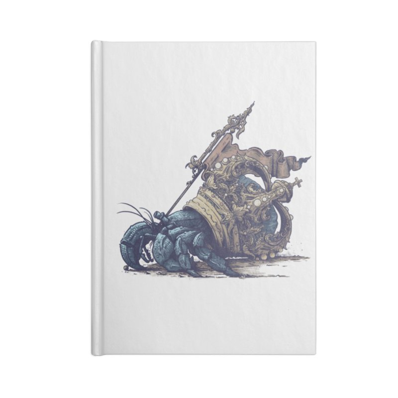 Hermit Accessories Lined Journal Notebook by Alexhovey's Artist Shop