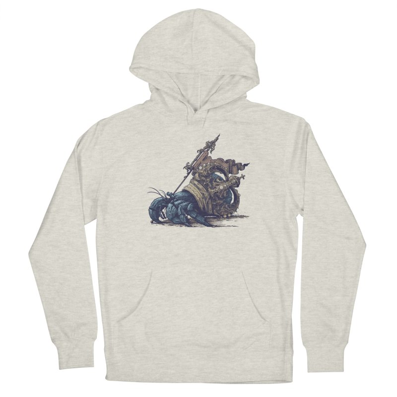 Hermit Women's French Terry Pullover Hoody by Alexhovey's Artist Shop