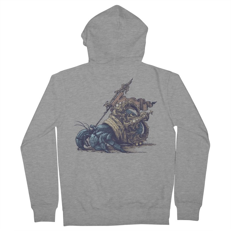 Hermit Women's French Terry Zip-Up Hoody by Alexhovey's Artist Shop