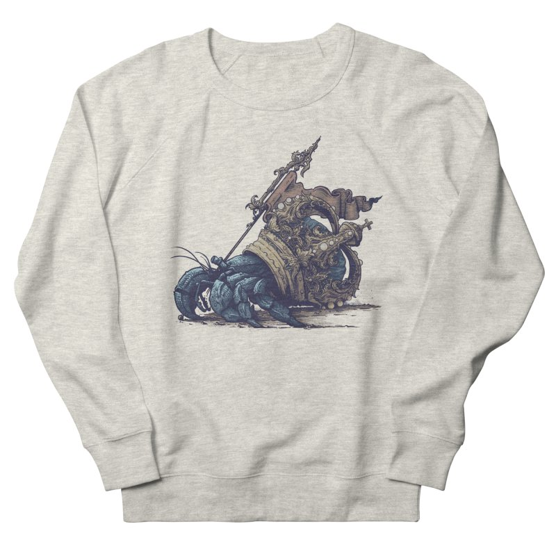 Hermit Men's French Terry Sweatshirt by Alexhovey's Artist Shop